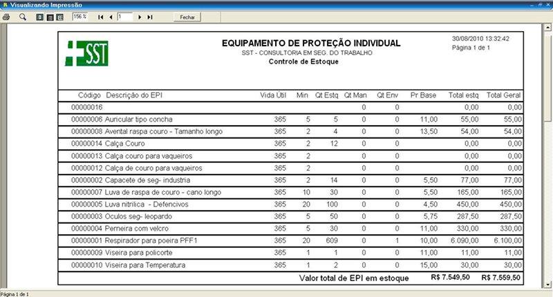 ... pendências de envio, itens em manutenção, testes de EPI, vencimento e  vida útil, resumo financeiro, listas de verificação (checklist) EPI e  Ferramentas, ... a0325deba7